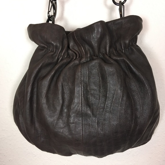 David & Scotti Handbags - David & Scotti Brown Leather Gathered Bag OS